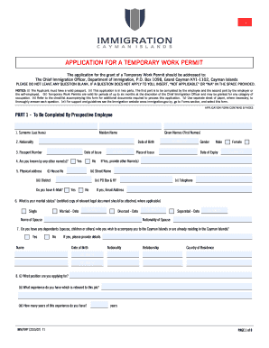 Cayman Work Permit Form  Police Report Format Template