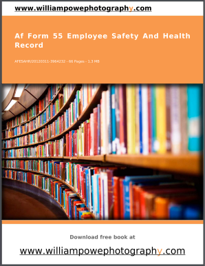 Af Form 55 Employee Safety And Health Record
