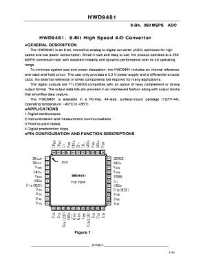 Dual 8-Bit 60 MSPS A//D Converter ADC AD9059
