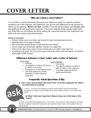 17 Printable general cover letter no specific job Forms and ...