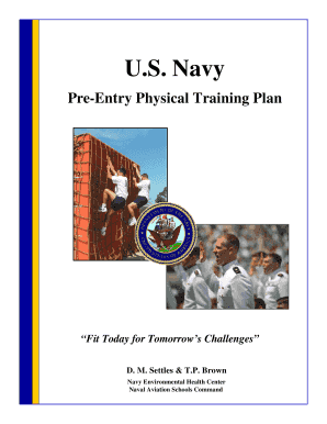 PreEntry Physical Training Plan