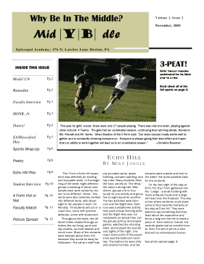 Newspaper Template - Episcopal Academy The