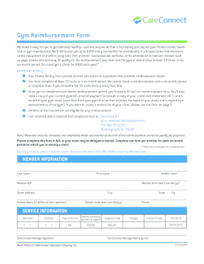 Gym Reimbursement Form - CareConnect