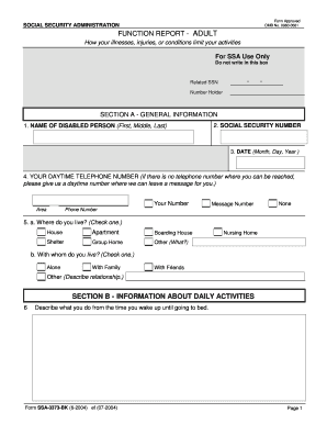 Ssa-3373-bk Fillable Forms and Templates - Fillable & Printable ...