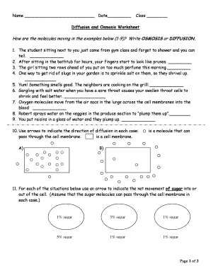 Diffusion And Osmosis Worksheet Answers : Ukrobstep.com