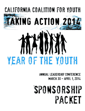 Message to prospective sponsors - California Coalition for Youth - calyouth