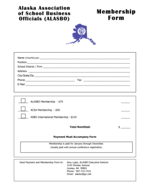 Membership bFormb fillable PDF - alasbo