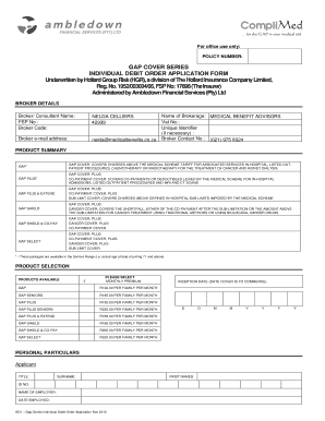 ambledown financial services form