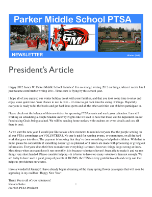 printable middle school newsletter articles fill out download
