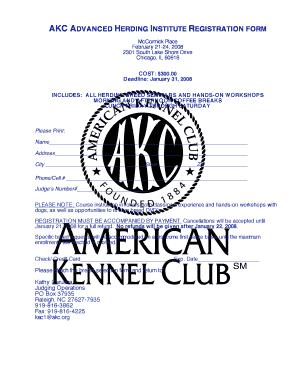 akc registration cost - Fill, Print & Download Online