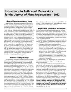 Fillable Online Instructions to Authors of Manuscripts for