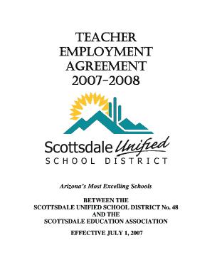 Fillable teacher employment agreement edit online print teacher employment agreement 2007 b2008b arizona education bb platinumwayz
