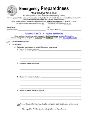Emergency Preparedness Merit Badge Answers For Worksheet - Best ...