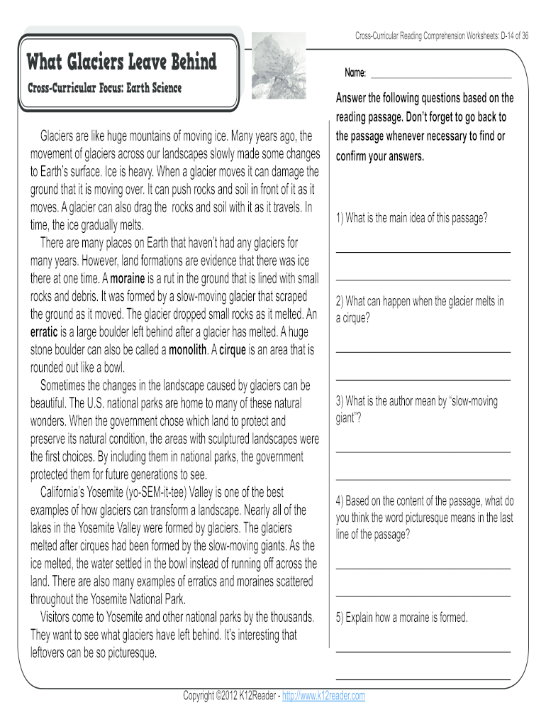 - 4th Grade Reading Comprehension Worksheets - Fill Online