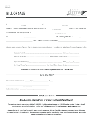 west virginia bill of sale  Car Bill Of Sale Doc Forms and Templates - Fillable