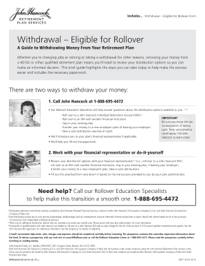 Fillable John Hancock Terms Of Withdrawal 401k Form Templates To