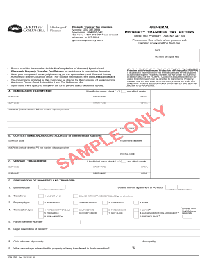 FIN 579G Sample General Property Transfer Tax Return This Is A Sample  Version Of A General  Expense Voucher Template
