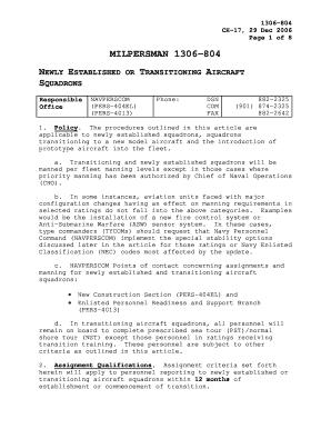fillable online public navy milpersman 1306 804 naval military rh pdffiller com navy nec manual pdf navy nec manual vol 2