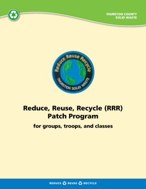 Reduce, reuse, recycle (rrr) Patch Program - Thurston County - co thurston wa