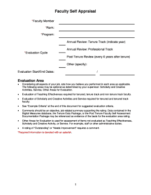 Sample Self Evaluation Forms and Templates - Fillable & Printable ...