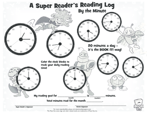 Reading Log by the minute-early elementary - cambridge k12 mn