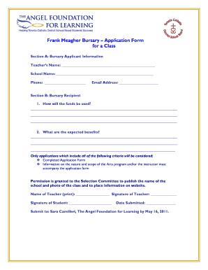 Editable application for fever to class teacher - Fill