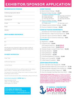 exhibitor prospectus template - ssa 1372 bk fillable fill online printable fillable