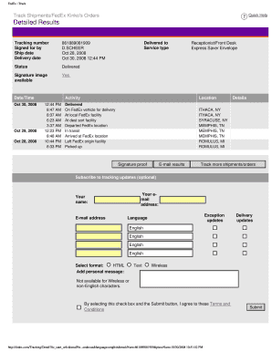graphic relating to Printable Fedex Door Tag known as Fillable fedex monitoring - Down load Cafe Menu Templates