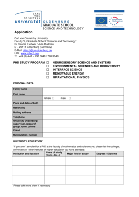 Fillable Online Phd Programme Neurosensory Science And Systems Fax