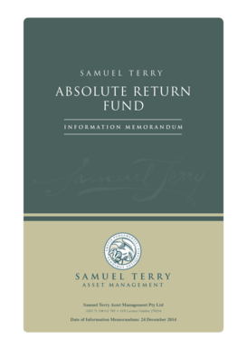 Information Memorandum - Samuel Terry - Asset Management