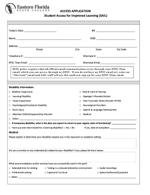 IntakeAccess Application Form - Eastern Florida State College