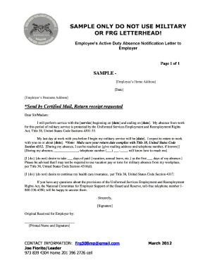 employee notification letter