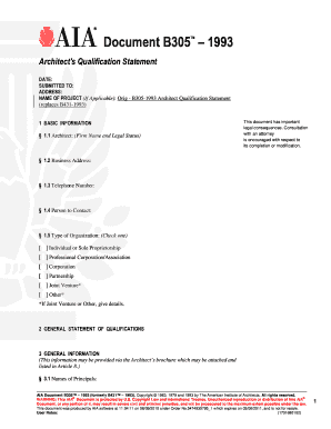 blank aia document a305 Forms and Templates - Fillable & Printable ...
