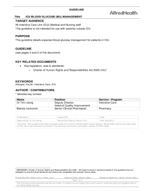Icu Rounding Template Edit Fill Out Download Printable Online