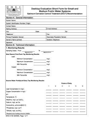 General evaluation template forms fillable printable samples desktop evaluation short form for small and medium public water pronofoot35fo Image collections