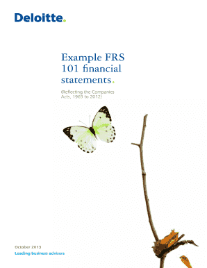 Example FRS 101 financial statements. - Deloitte