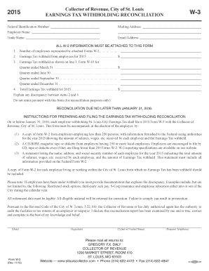 2015-2017 Form MO W-3 Fill Online, Printable, Fillable, Blank ...