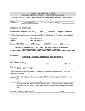 Medical hardship letter forms and templates fillable printable download the teen tb test form centennial medical center spiritdancerdesigns Image collections