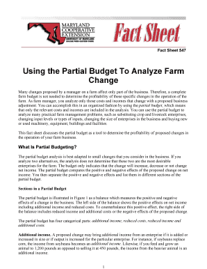 Using the Partial Budget To Analyze Farm Change - Agricultural ... - aae wisc