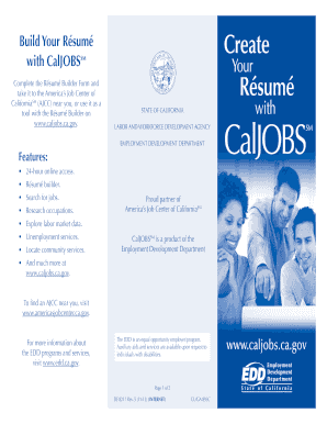 caljobs registration fill online printable fillable blank