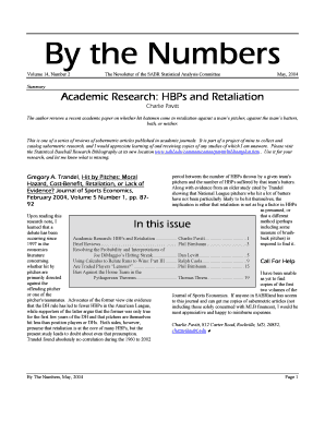 Sabermetric batting order printable form templates to submit by the numbers volume 14number 2 the newsletter of the sabr statistical analysis committee may2004 summary academic researchhbps and retaliation charlie pronofoot35fo Image collections