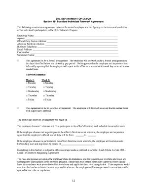 86774136 Telework Application Form on