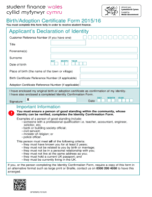 Student finance birth certificate form fill online printable student finance birth certificate form yadclub Gallery