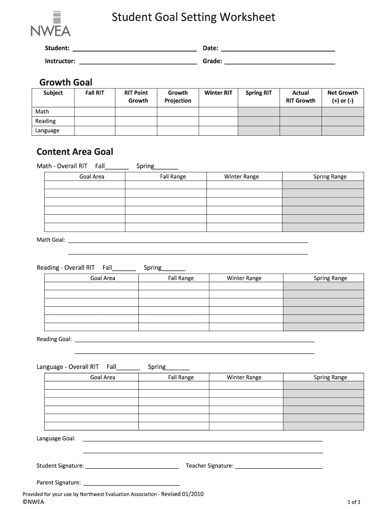 Worksheet goal setting Goal Setting