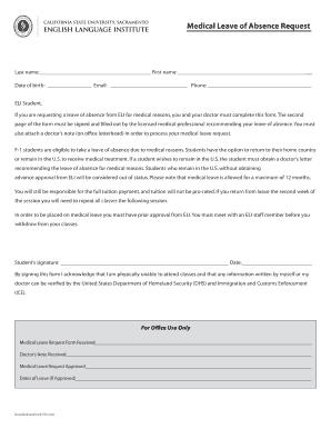 doctor letter for medical leave
