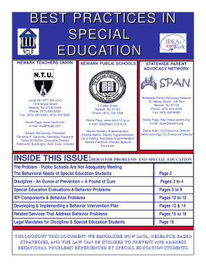 Special Education Best Practices And >> Best Practices In Special Education Statewide Parent Advocacy Fill