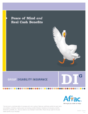 Aflac Short Term Disability Insurance  : Fillable Online Brochure about Aflac Short-Term Disability ...