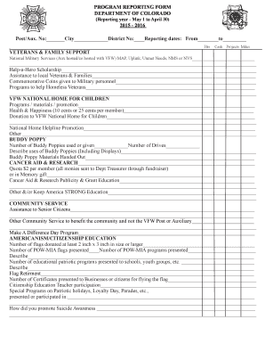 Fillable Online 2015-2016 Community Service Report Form ...