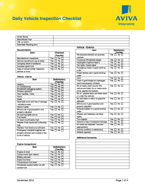 Vehicle service record forms and templates fillable - Vehicle exterior inspection checklist ...