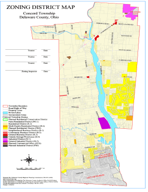 Fillable Online dcrpc ZONING DISTRICT MAP - Concord ...